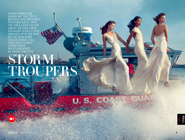Editorial da Vogue foca o furacão Sandy