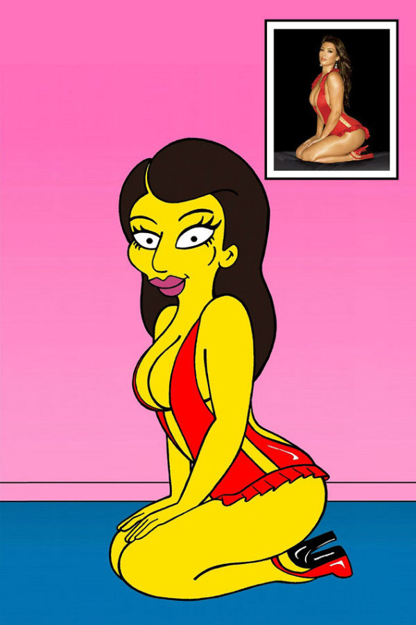 Kim Kardashian é transformada em cartoon
