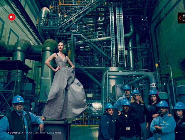 Editorial da Vogue foca o furacão Sandy