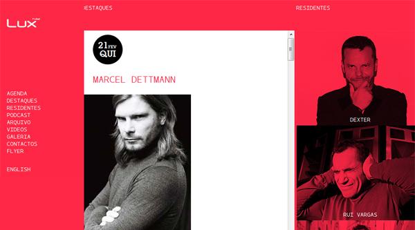 Hoje Marcel Dettman e na 6ª Feira Ryan Crosson&Cesar Mervellie no Lux