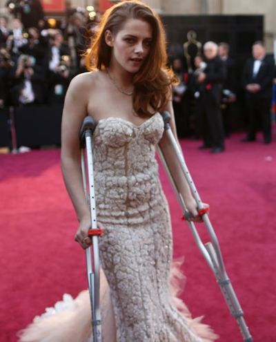 Kristen Stewart deprimida nos Óscares