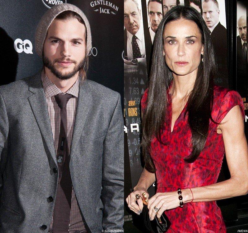Demi Moore pede apoio de Ashton Kutcher