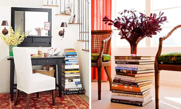 Saber decorar com livros