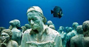 Um museu debaixo de água