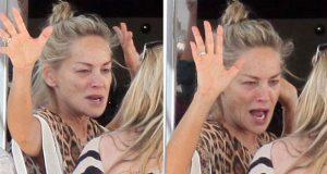 Sharon Stone é fotograda sem maquilhagem