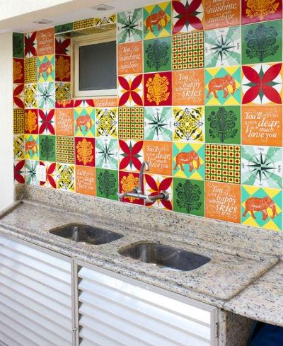 Algumas ideias para remodelar azulejos