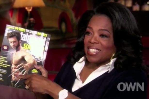 Oprah fica entusiasmada com abdominais de Hugh Jackman