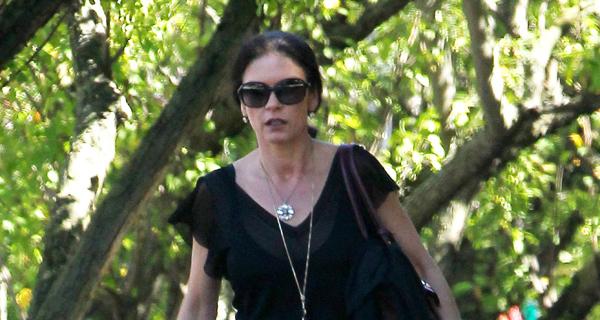 Catherine Zeta Jones vista pela primeira vez depois da separação