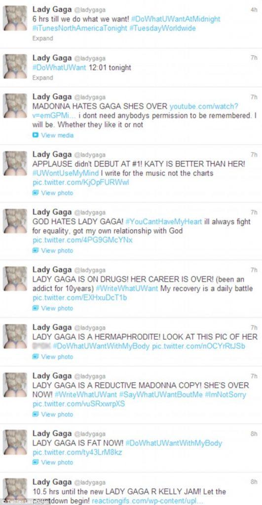 Lady Gaga faz campanha contra os seus críticos