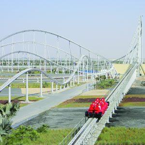 O maior parque temático do mundo o Ferrari World fica em Abu Dhabi