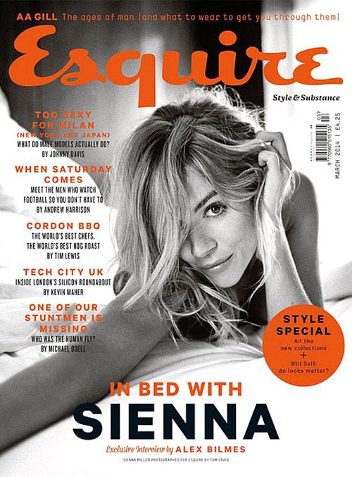 Sienna Miller na Revista Esquire