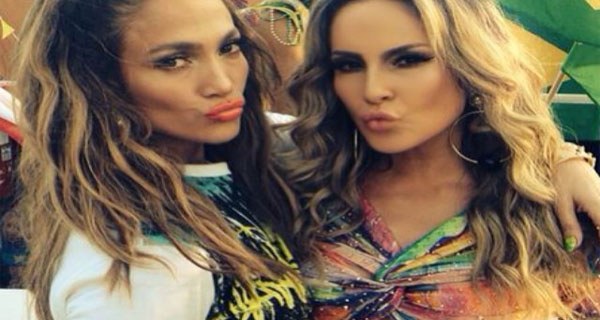 Jennifer Lopez e Claudia Leitte gravam teledisco para We Are One