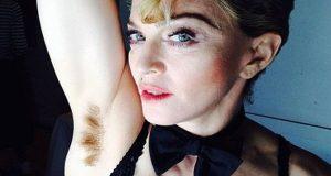 Madonna publica foto de sua axila com pelos