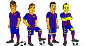 Neymar e Messi ganham as suas versões de Os Simpsons