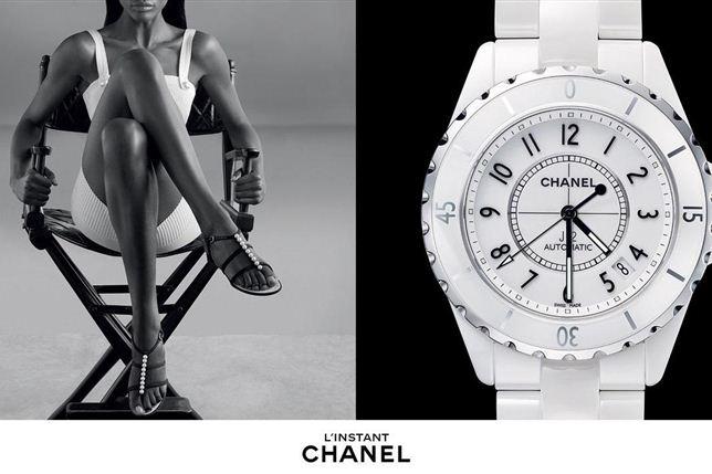 """A """"pantera negra"""" do mundo da moda conquista a Chanel. Sharam Diniz protagonizou a campanha da casa francesa Chanel da linha de relógio L'Instant que foi fotografada pelo célebre fotografo Patrick Demarchelier."""