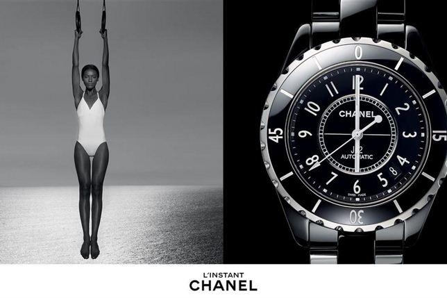 """A """"pantera negra"""" do mundo da moda conquista a ChanelSharam Diniz protagonizou a campanha da casa francesa Chanel da linha de relógio L'Instant que foi fotografada pelo célebre fotografo Patrick Demarchelier."""