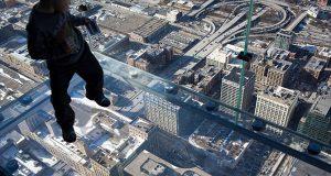 Pânico na torre de Willis Tower em Chicago