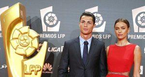 Irina acompanha Ronaldo em noite de glória