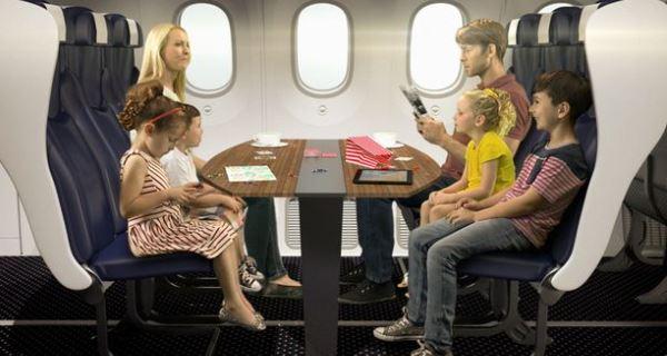 Companhia apresenta planos de aviões futuristas