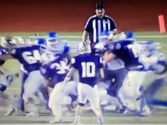 Jogador Universitário de Futebol Americano ataca árbitro