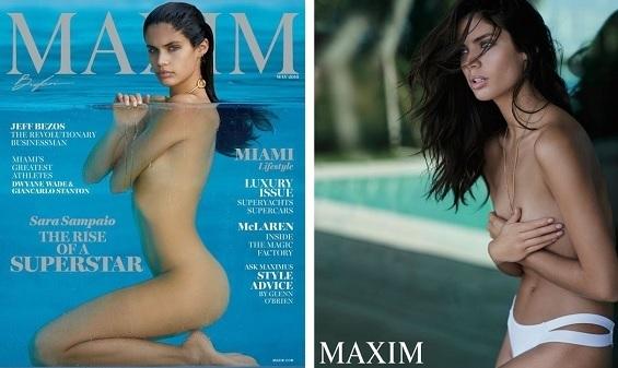 Sara Sampaio capa do mês da revista Maxin